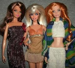 Model Muse Barbie lovelies #2 (skipscales) Tags: barbie modelmuse summer steffie mattel dolls redhead brunette blonde crochet handmade ooak
