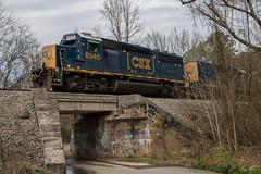 Closed Road Geep (travisnewman100) Tags: csx train freight locomotive gp402 road slug manifest emd yn3b a71818 etowah subdivision atlanta division white georgia ka