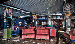 Sit where you like (pepe50) Tags: disco abandoned urbex 2019 pepe50 italy funny leisure discoteque dj discodance dancing old jj party discoteca fattoria italia dance pala j abbandono lido degli scacchi riviera emilia romagna music 80 hdr hd bar fun fence blue blu