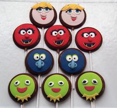 Festa Muppets Baby (Elaine Russo - Delizie! Confeitaria Artística) Tags: chocolat lollypop muppets