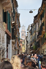 Busy Shopping (Worthing Wanderer) Tags: verona italy spring april sunny city roman ruins architecture