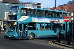 ANE 7492 @ Newcastle-upon-Tyne Eldon Square/Haymarket bus station (ianjpoole) Tags: arriva north east volvo b7tl wright eclipse gemini lf02pkx 7492 working sapphire route 43 newcastleupontyne haymarket bus station dudley lane shops cramlington this is former london vlw45