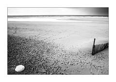 Le sable des pavés n'a pas la mer à boire. (Scubaba) Tags: europe france pasdecalais noirblanc noiretblanc blackwhite bw sable sand plage beach mer sea