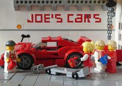 Some liters of coffee later (captain_joe) Tags: toy spielzeug 365toyproject lego minifigure minifig car auto 6wide speedchampions ferrari f40 joescars mikethemechanic