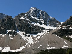 CROWFOOT MOUNTAIN (Rob Patzke) Tags: mountain snow trees lanscape blue panasonic lx100 rock nature stones ice canada rockies