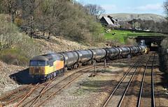 Tail-End Grid At Hall Royd. (Neil Harvey 156) Tags: railway 56090 hallroydjunction todmorden caldervalley prestondockstanks prestontanks bitumentanks 6e32 class56 colasrail colas grid