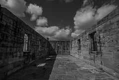 DSC00547 (Damir Govorcin Photography) Tags: isolation cells cockatoo island sydney blackwhite monochrome sky clouds architecture history wide angle sony a7rii zeiss 1635mm
