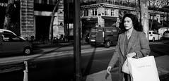 decided Paris (laurent.triboulois) Tags: woman paris street rue ville blackandwhite downtown regard mode city cité
