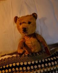 096/365 Bedtime (KatyMag) Tags: teddy teddybear ted childhood comfort bedtime cosy odc theflickrlounge memory weeklychallenge flickrlounge oldtoy vintage nostalgia