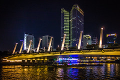 City Night (yc4646) Tags: footbridge light lighting night ship shippingcontainer ships transport transportation watertransportation watercraft hangzhou zhejiang china