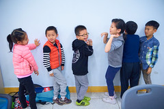 2019 Winter Camp Science Lesson 14 (ArdieBeaPhotography) Tags: boys girls children kids little young middleschool elementaryage schoolholiday programme class group classroom bench table chair window bottles water markers felttippens winter jacket jeans tights puffy pullover sweater jersey jumper strike hit musical vibrate vibrations science lesson teach learn friends ponytail long black hair sweet pretty patterned lean whisper listen ring pour level laugh fun tamronspaf2875mmf28xrdildasphericalif noise