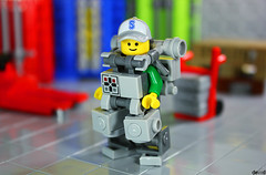 Logan the Container Operator (Devid VII) Tags: devid vii lego moc mecha mech minifigs minifig minifigures suit trooper containers diorama scene operators