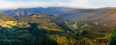 The Sanctuary of Far (PepinAir) Tags: girona marededã©udelfar panoramic land landscape catalonia sundown sun nature
