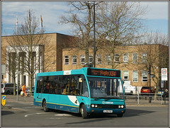 Arriva Midlands 2403 (Jason 87030) Tags: arriva midlands x84 leicester rugby warks evreux way road blue turquoise optare solo shot bus 2403 2019 trees naked bare trunk branches season weather uk england hall buses transportation transport