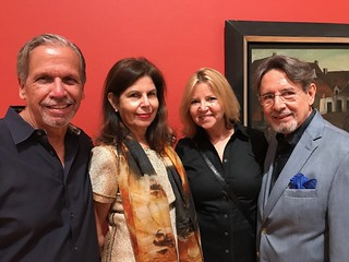 Collectors Emilio and Liliana Callejas with Joyce Lowry and Ricardo Gonzalez at the Lowe Art Museum dual opening of The Face of Our Time: Russian Avant-garde Art from the Bekkerman Collection and Marcelo Bonevardi: Magic Made Manifest