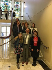 Chispa team with Del. Fraser Hidalgo after testifying at the MD Clean buses hearing