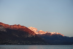 Sunset @ La Tournette @ Annecy (*_*) Tags: march 2019 hiver winter afternoon europe france hautesavoie 74 annecy savoie lacdannecy lakeannecy lac lake bornes tournette mountain sunset sunny