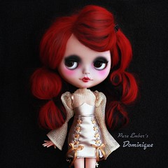 Red ❣️ (pure_embers) Tags: pure embers blythe doll dolls custom photography takara neo uk laura england girl pureembers dominique nanuka vampire red alpaca hair vampiregirl littlejanchor outfit portrait