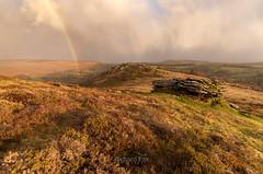 Bow-lder (http://www.richardfoxphotography.com) Tags: chinkwell tor rainbow dartmoor honeybag sunrise sky rain cloud storm