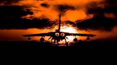 As The Sunsets... (Steve Cooke-SRAviation) Tags: 100400mm 15sqn 31sqn 500mm 5d4 canon lightningll marham panavia raf sraviation stevecooke tonka tornado tornadogr4