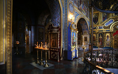 Mosaics and colorful interior at the St. Michael Cathedral (B℮n) Tags: київ kyiv kiev ukraine киев kiëv oekraïne dnjepr dnipro hidropark viewpoint historical treasures river green park bridge rusanivskastrait dnieper brovary 50faves topf50 orange revolution independence square europe centre history viktor janoekovytsj україна globus monument independencemonumentмонументнезалежності монументнезалежності ukrainehotel готель готельукраїна євромайдан ❤ blue yellow flag соборсвятоїсофії софійськийсобор national sanctuary holy cathedral complex landmark ukrainian baroque architecture heritage seven wonders unescoworldheritage михайлівськийзолотоверхиймонастир saintmichael goldendomedcathedral goldendomed domes gold golden religious painting priest monk orthodox 100faves topf100