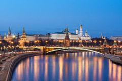 Moscow Kremlin (ladanvii) Tags: moscow kremlin russia river bridge water reflection reflections architecture cityscape palace dusk sel18135 ilce6000 a6000