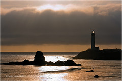 Pidgeon Point Lighthouse (Sandra Lipproß) Tags: california coast west lighthouse pidgeonpoint sunset highway1 travel landscape seascape outdoor sea usa pacific