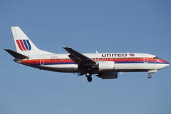 N312UA Orlando 11-11-1991 (Plane Buddy) Tags: n312ua boeing 737 united mco orlando