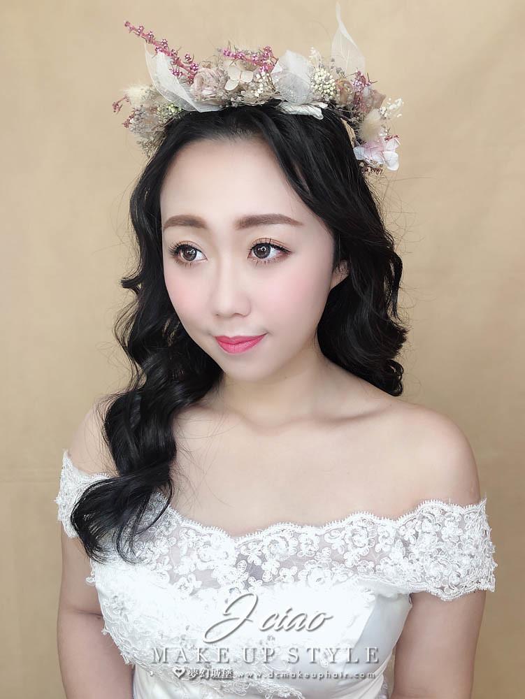 【新秘婕喬】新娘造型創作 / 浪漫乾燥花圈