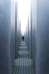 Maze of remembrance ~ Berlin (~mimo~) Tags: minimal man urban city street repetitive memorial holocaust deutschland germany berlin