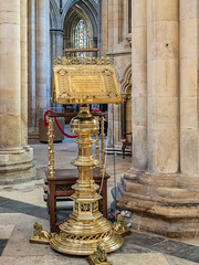 Lectern (jakeblu) Tags: beverleyminster lectern gold stand church cathedral pillars