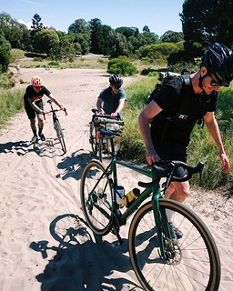 Throwback to Nov '17 when @rcoh77 took us on a tour of his favourite local tracks, which apparently included vast swathes of sand. My chainrings still haven't recovered. Fortunately the beach and the beers made up for everything.