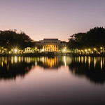 A view of the Capitol Lagoon during sunset thumbnail