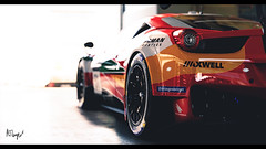 Ferrari 458 Gr. 3 (at1503) Tags: light garage ferrari macro backgroundblur 458 ferrari458 car racingcar red taillight brakelight wing wheels reflections orange track circuit italiancar gtsport granturismo granturismosport motorsport racing game gaming ps4