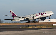 QTR_B77F_A7-BFG_BRU_FEB2019 (Yannick VP - thank you for 1Mio views supporters!!) Tags: civil commercial cargo freight freighter transport aircraft airplane aeroplane jet jetliner airliner qr qtr qatar airways boeing b777 777200 b77f a7bfg b772 brussels airport bru ebbr belgium be europe eu february 2019 aviation photography planespotting airplanespotting departure takeoff runway rwy 19