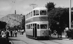 Glasgow Tram 1297, at Crich Tramway Village - 20 July 1969 (huddlestoneja8) Tags: tram crich