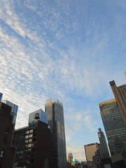 2019 March Morning Light Clouds 3517 (Brechtbug) Tags: 2019 march morning light clouds virtual clock tower from hells kitchen clinton near times square broadway nyc 03112019 new york city midtown manhattan winter spring weather building breezy cloud hell s nemo southern view