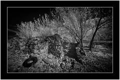 Abandoned, Garafía, Isla de La Palma (Bartonio) Tags: 720nm bw canaryislands garafía ir islascanarias lapalma sonya7ir blanconegro infrared laowa1018mm45 modified