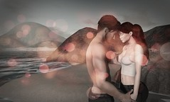 Embrace [when souls connected] (Ix Heron) Tags: love life beach virtual virtualworld virtually virtualart couple couplegoals 3d 3dart secondlife selfie sea sunset emotions