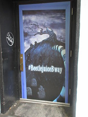 Beetlejuice The Musical Winter Garden Theater Marquee 4384 (Brechtbug) Tags: beetlejuice the musical winter garden theater marquee display 2019 nyc broadway 7th ave 51st street ben cooper halco collegeville monster creature graveyard ghoul dead guy moss hair green stripes fashion mutants villains tim burton film movie 1988 80s 1980s figure hell purgatory beatle beetle juice ghost with most michael keaton possession exorcist betelgeuse exorcism haunt