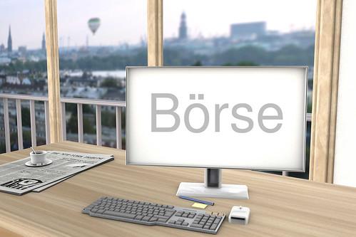 Boerse-auf-Bildschirm