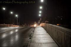 Late Night Walk (13skies (Physio)) Tags: williamstbridge paris night nighttime nightshot railing streetlights cold road cars darkness hour winter sonya99 longexposure
