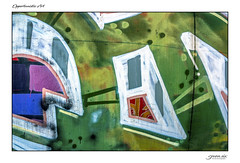 Opportunistic Art (Danial Thiessen) Tags: seven six photography outside outdoors sony rx10iii rx10m3 cybershot beauty beautiful painted spray spraypaint vandal vandalism bright colors colorful graffiti train traincar art artistic green blue white pink