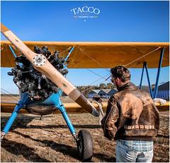 Me and a Stearman (TACCO Photography) Tags: tacco photography aviation aviateur aviator pilot vintage plane biplane flight ww1 ww2 stearman usarmy usa andernos france byplane