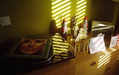 Christmas with Dusty (boloveselvis) Tags: kodak gold 200asa 35mm 36 exp single film filmism marshall acton amp bluetooth memphis dustyinmemphis bt500 turntable akaiturntable