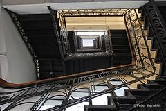 Hamburg - Elbhof (peterkaroblis) Tags: hamburg treppenhaus staircase haus house building gebäude innenansicht architektur architecture interiordesign innenarchitektur interieur interiorarchitecture lines curves linesandcurves geometry geometrie elbhof