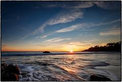 Sunset, Broad Beach, Malibu. (drpeterrath) Tags: sunset sunrise beach malibu sun sky cloud water ocean pacific rocks blue coloe outdoor landscape seascape sea california calilife canon eos 5dsr