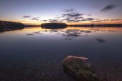 Sunset (Melanie Martinu) Tags: germany bavaria winter colors sky clouds reflection longexposure lake water nature landscape sunset