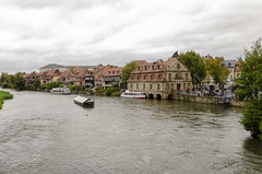 View of Little Venice Area Bamberg (rschnaible) Tags: bamberg germany europe outdoors sky building architecture street photography sightseeing little venice area cloudy day