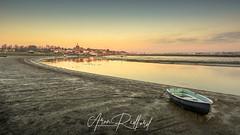 Maldon Promenade (Aron Radford Photography) Tags: maldon essex blackwater creek low tide town quay boat moored sunrise golden hour